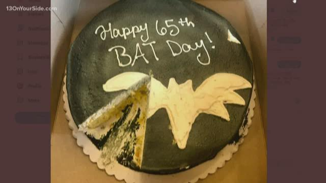 Astonishing Happy Bat Day Whitmer Sends Shirkey Cake After Comments Kare11 Com Personalised Birthday Cards Veneteletsinfo